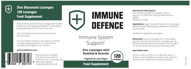 ingredients of immune system