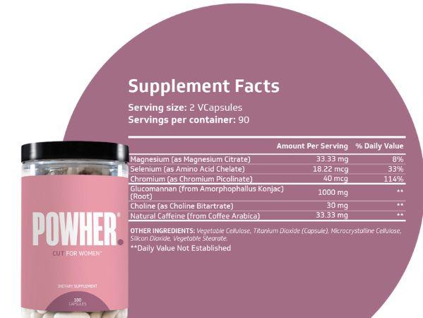 Powher ingredients list
